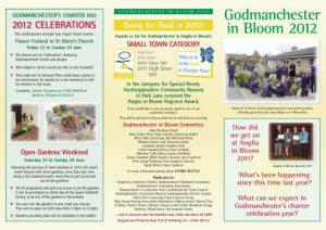 godmanchester in bloom  leaflet