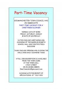 Job Advert 0713