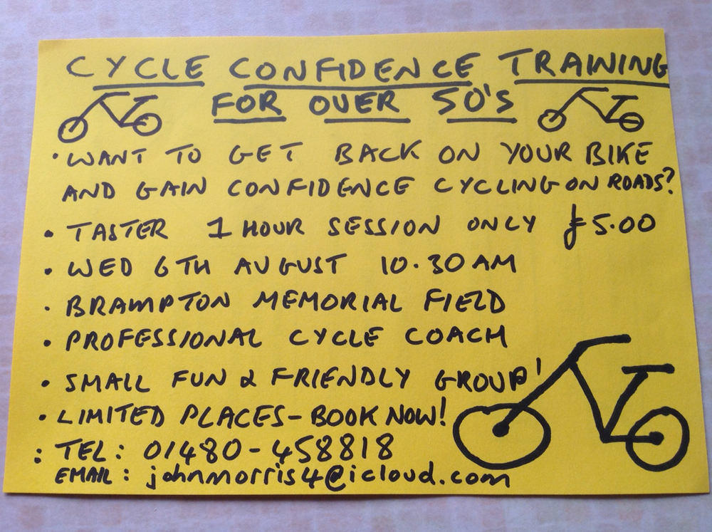 OverFiftyCycle – Godmanchester Town Council