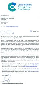crime commisioner letter
