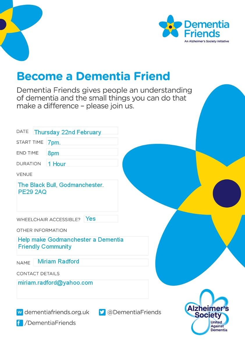 Dementia Friends Poster