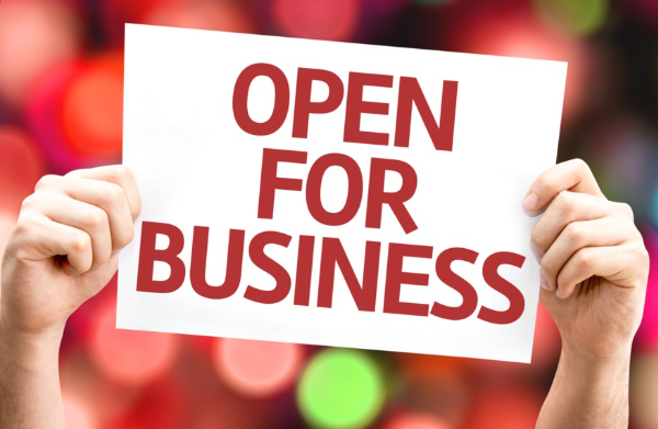 Image of Open for Business sign