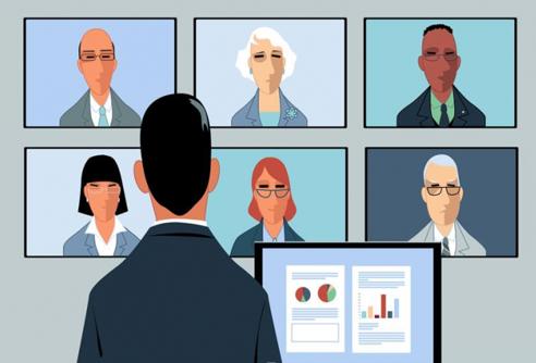 Clip art of Virtual Meeting