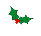 Clip art of holly leaves