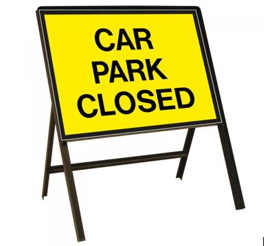 Image reading 'Car Park Closed'